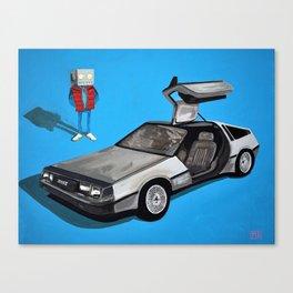 Delorean and Me, a Back to the Future Tribute Canvas Print