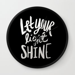 Let Your Light Shine II Wall Clock
