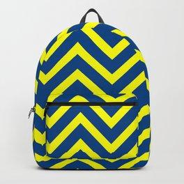 Maize & Blue Chevron Stripes Backpack