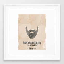 Brownbeard Bootleggers Framed Art Print