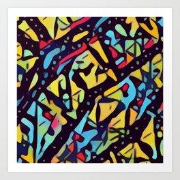 Vibrant Kaleidoscopic Thicket Art Print