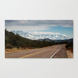 Desert Snow Canvas Print