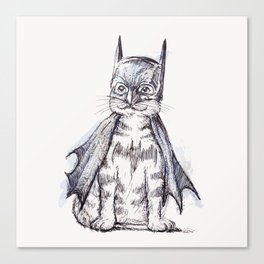 Bat Cat Canvas Print