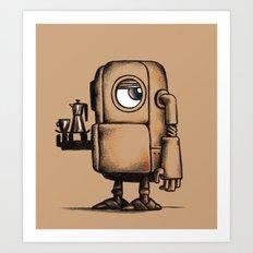 Robot Espresso #1 Art Print