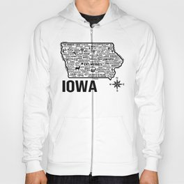 Iowa Map  Hoody
