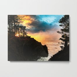 Sunset at Shore Acres State Park, Oregon Metal Print