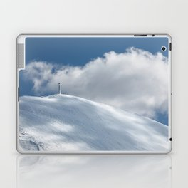 The cross of Monte Catria snow covered, Italy Laptop & iPad Skin