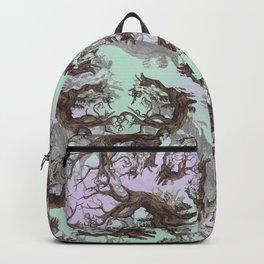 ANCIENT PINE SNAG VINTAGE PEN DRAWING Backpack