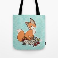 nope Tote Bags featuring nope by eglads