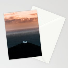 Lonely House by the Sea during Sunset - Landscape Photography Stationery Cards