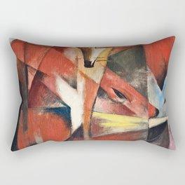 Franz Marc - The Foxes . Rectangular Pillow