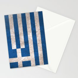 Greece Flag (Vintage / Distressed) Stationery Cards