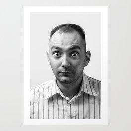 Crazy man Art Print