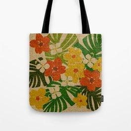 Limahuli Garden Hawaiian Floral Design Tote Bag