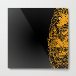 Sleeve Orange Metal Print