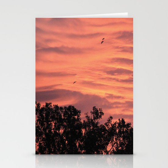 Burning Sunrise Stationery Cards