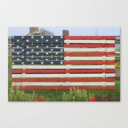 American Flag Rustic Canvas Print