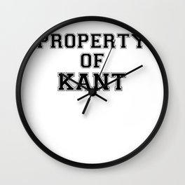 Property of KANT Wall Clock