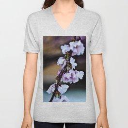 Cherry Blossom Flowers After Rain Unisex V-Neck