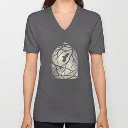my heart; my home; my cage Unisex V-Neck
