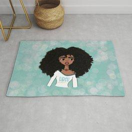 African American girl Rug