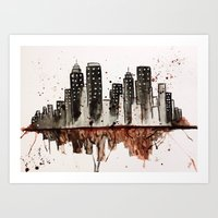 nyc Art Prints featuring NYC by Rosalia Mendoza
