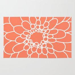 Coral Chrysanth Rug