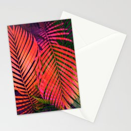 COLORFUL TROPICAL LEAVES no2 Stationery Cards