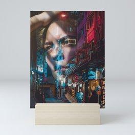 China America double exposure Mini Art Print