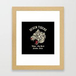 Seven Tigers Framed Art Print