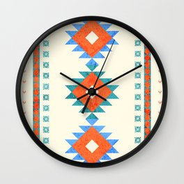 geometry navajo pattern no3 Wall Clock