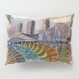 Meandering Landscapes: November Train Pillow Sham