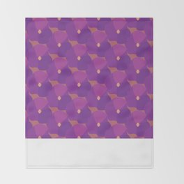 You're turning Violet, Violet Throw Blanket