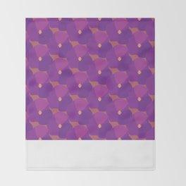 You're turning Violet, Violet Throw Blanket