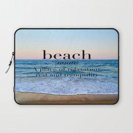 beach definition Laptop Sleeve