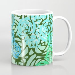 Colorful Overlapping Roses on Roses Print Design 2 Coffee Mug
