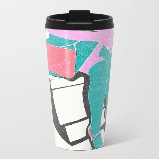 legs (lost time, risograph) Metal Travel Mug