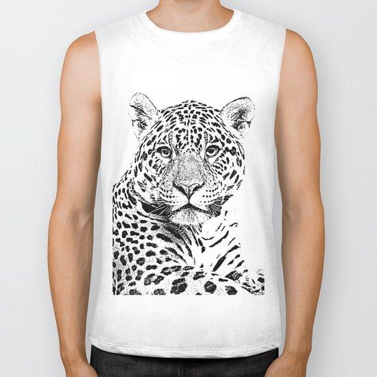 Cheetah Sketch Biker Tank