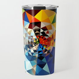 triangle shapes pattern fill Travel Mug