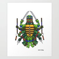 tmnt Art Prints featuring TMNT by Artifact Supply