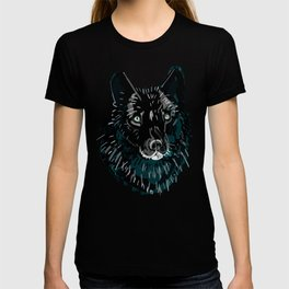 Totem love wolf pattern T-shirt