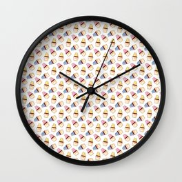 Vector cupcakes pattern Wall Clock