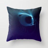 matrix Throw Pillows featuring Blue Matrix by zAcheR-fineT