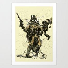 Retrobocop Art Print