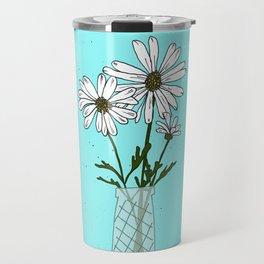 Floral drawing IV: bellis perennis Travel Mug