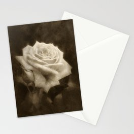 Pink Roses in Anzures 3 Antiqued Stationery Cards