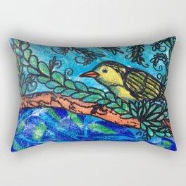 Yellow bird Rectangular Pillow