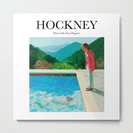 Hockney - Pool with Two Figures Metal Print