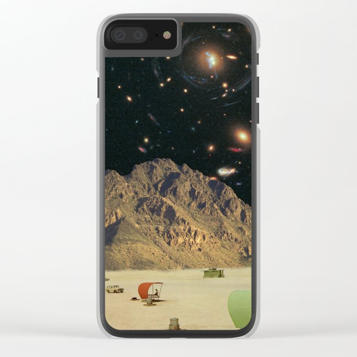 Space camping Clear iPhone Case