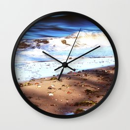 Waves Sand Stones Wall Clock